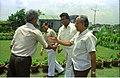 G Nagarajan Shakes Hands With Armoogum Parsuramen In Presence Of Ingit Kumar Mukhopadhyay And Saroj Ghose - Science City Site - Calcutta 1994 372.JPG