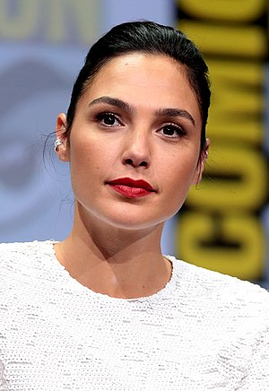 Close-up photograph of Gal Gadot with a slight smile in 2017