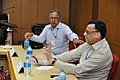 Ganga Singh Rautela and Pramod Kumar Jain - Meeting with Participants - VMPME Workshop - Science City - Kolkata 2015-07-16 9096.JPG