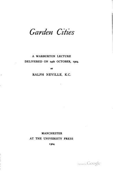 File:Garden Cities.djvu