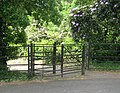 Gate between the car park and the pinetum, Cuerdon Valley Park - geograph.org.uk - 1385019.jpg