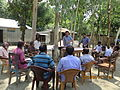 Gathering in a meeting of villagers in an Bangladeshi village 2015 05.jpg