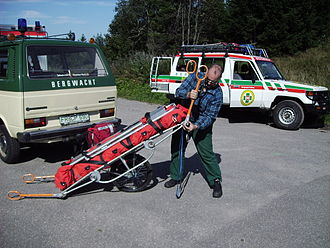 Mountain rescue - Special stretcher for mountain rescue (Black Forest)