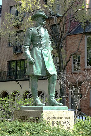 General Philip Henry Sheridan - The sculpture in 2014