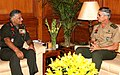 General of Army Americo Salvador de Oliveira, Commander of Ground Operations of Brazilian Army calls on the Chief of Army Staff, Gen. V.K. Singh, in New Delhi on September 26, 2011.jpg