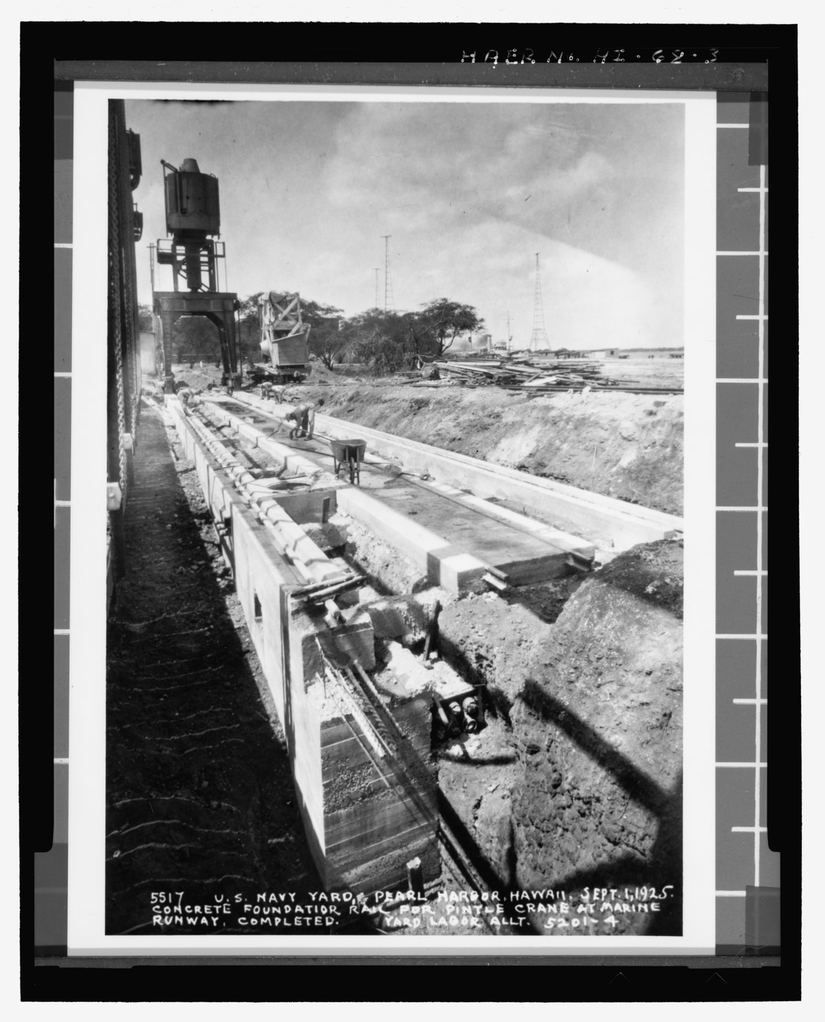 File:General view of concrete foundation rail for Pintle ...