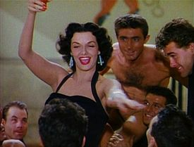 Jane Russell as Dorothy Shaw in Gentlemen Prefer Blondes (1953).
