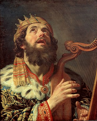 Psalms - Gerard van Honthorst, King David Playing the Harp, 1622