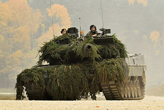 10th Panzer Division (Bundeswehr) - A Leopard 2A5 main battle tank of Armoured Battalion 104