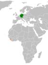 Lage von Deutschland und Sierra Leone