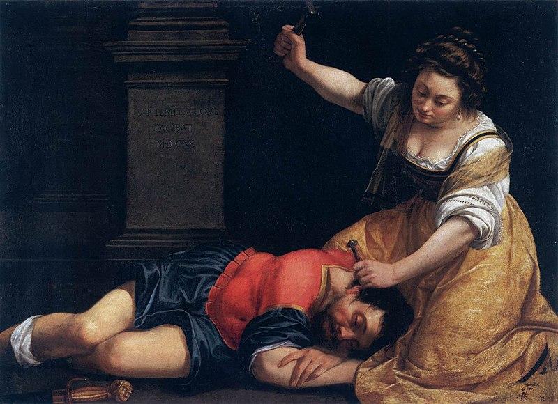 Jaele; Sisera; Power of women; Gentileschi