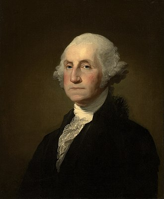 Washington's Birthday - Portrait of George Washington by Gilbert Stuart