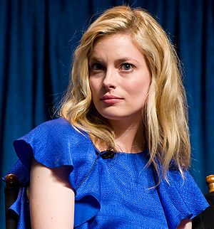 Gillian Jacobs at a panel for Community at Pal...