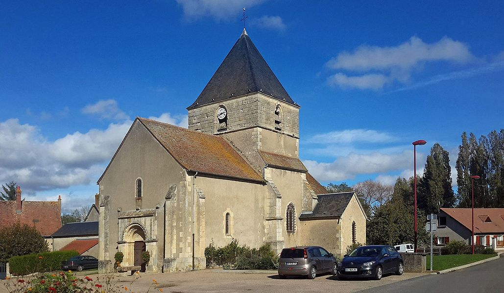 Church of St. Lawrence Gimouille, Nièvre, France.