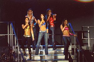 "The Show (Girls Aloud song) - Girls Aloud performing ""The Show"" on the What Will the Neighbours Say...? Tour (2005)."