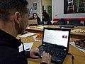 """Gjatë Edit-a-thon """"Gratë Shqiptare në Wikipedia"""" në Fier.jpg"""
