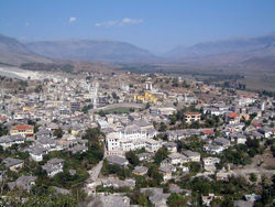 Gjirokastër seen from the Castle