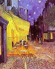 Arles - Terrasse du café le soir, place du Forum (1888, septembre)