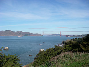 View of the Golden Gate from Lands End
