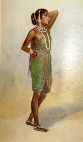 Pictographic depiction of a Gond lady. Gond lady.jpg