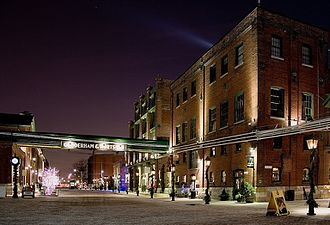 Architecture of Toronto - The Distillery District holds the largest collection of Victorian industrial architecture in North America.