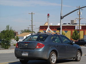 English: Google Street View Car in Salt Lake C...
