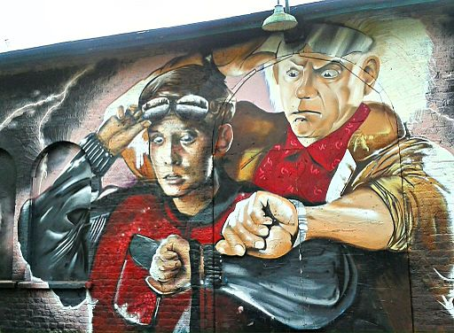 Graffiti in Shoreditch, London - Back to the Future by Graffiti Life (9422242223)