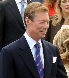 Grand Duke (head of state) of the Grand Duchy of Luxembourg