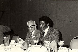 Graenum Berger - Granum Berger and Baruch Tegegne at an AAEJ National Conference in 1983