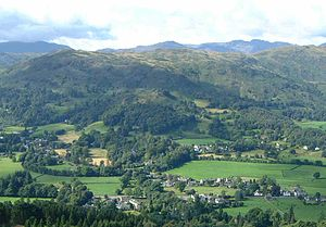 Silver How - Silver How above Grasmere village from Stone Arthur