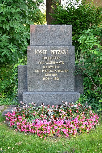 Joseph Petzval - Joseph Petzval's grave