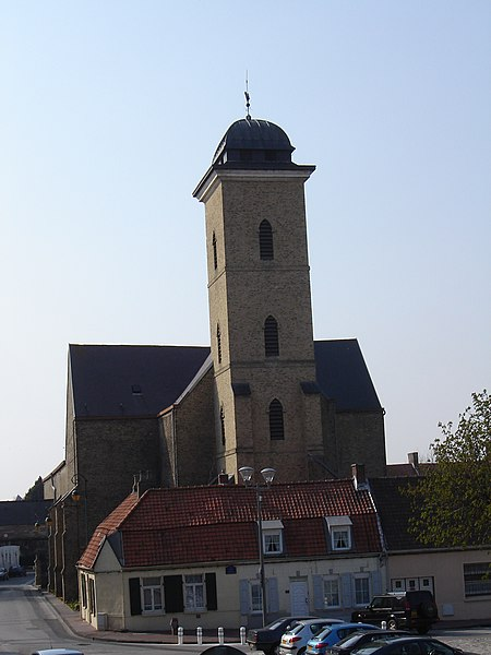 Eglise Saint-Willibrord in Gravelines, Nord, Nord-Pas-de-Calais, France