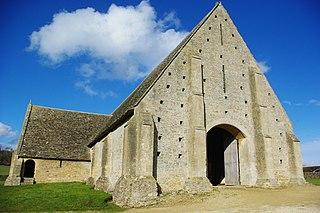 Great Coxwell Barn Tithe barn in Great Coxwell, Oxfordshire (formerly Berkshire), England, UK