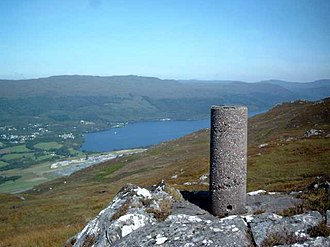 Great Glen - Great Glen Project Station M. This triangulation pillar was one of around sixteen built for a special survey of the Great Glen in the 1970s