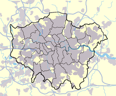 Location map Greater London