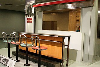 Greensboro sit-ins - This 4-seat section of lunch counter from the Greensboro, North Carolina Woolworth is at the Smithsonian Museum in Washington, D.C. The rest sits in its original footprint inside the International Civil Rights Center and Museum Greensboro, North Carolina