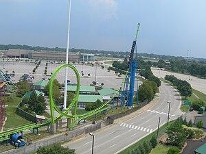 Shuttle roller coaster - A Schwarzkopf-designed launched roller coaster, Greezed Lightnin' at Kentucky Kingdom