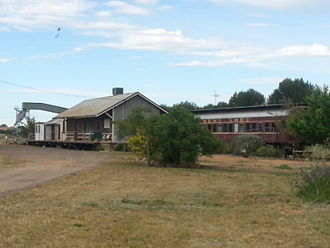 Men's shed - Old railway goods shed, now the Grenfell Men's Shed