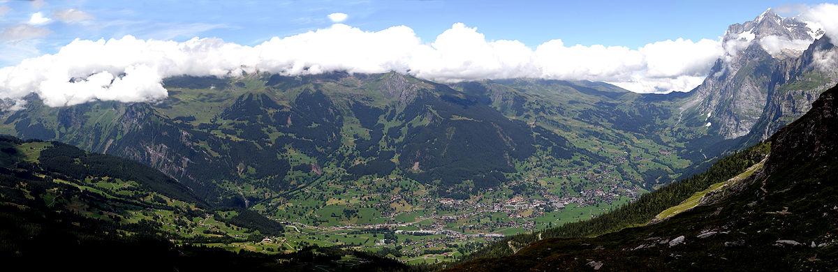 Vista panoramica di Grindelwald