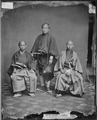 Group of three Japanese. Person on right possibly Domin Kawasaki,physician of the 1860 mission - NARA - 526519.tif
