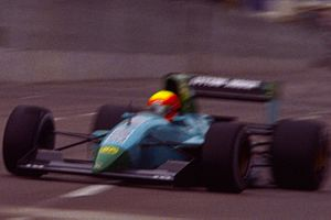 Leyton House Racing - Maurício Gugelmin driving the Leyton House CG911 at the 1991 United States Grand Prix.