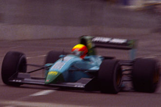 Maurício Gugelmin - Gugelmin at the 1991 US Grand Prix.