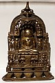 Gujarat, altarolo giainista, 1490 ca., ottone, argento e rame.jpg