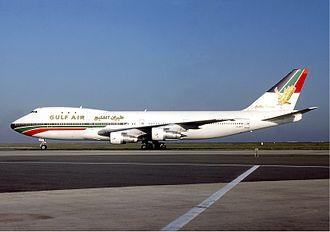 Gulf Air - A Gulf Air Boeing 747-100 at Charles de Gaulle Airport in 1986
