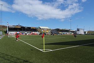 Gundadalur - Image: Gundadalur Stadium, Torshavn 01