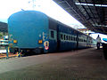 Guntur bound Simhadri Express leaving Visakhapatnam train station.jpg