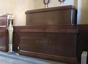 Victoria of Baden - The grave of King Gustaf and Queen Viktoria in Riddarholm Church.