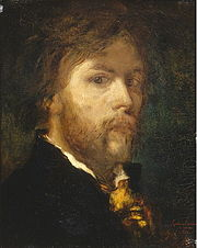 Self portrait of Gustav Moreau, 1850