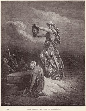 """English: """"Judith Showing the Head of Holo..."""