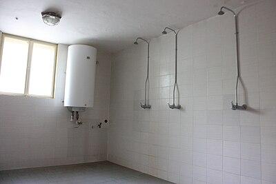 duchas colectivas en un centro de educacin secundaria gymnasium en brnoekovice
